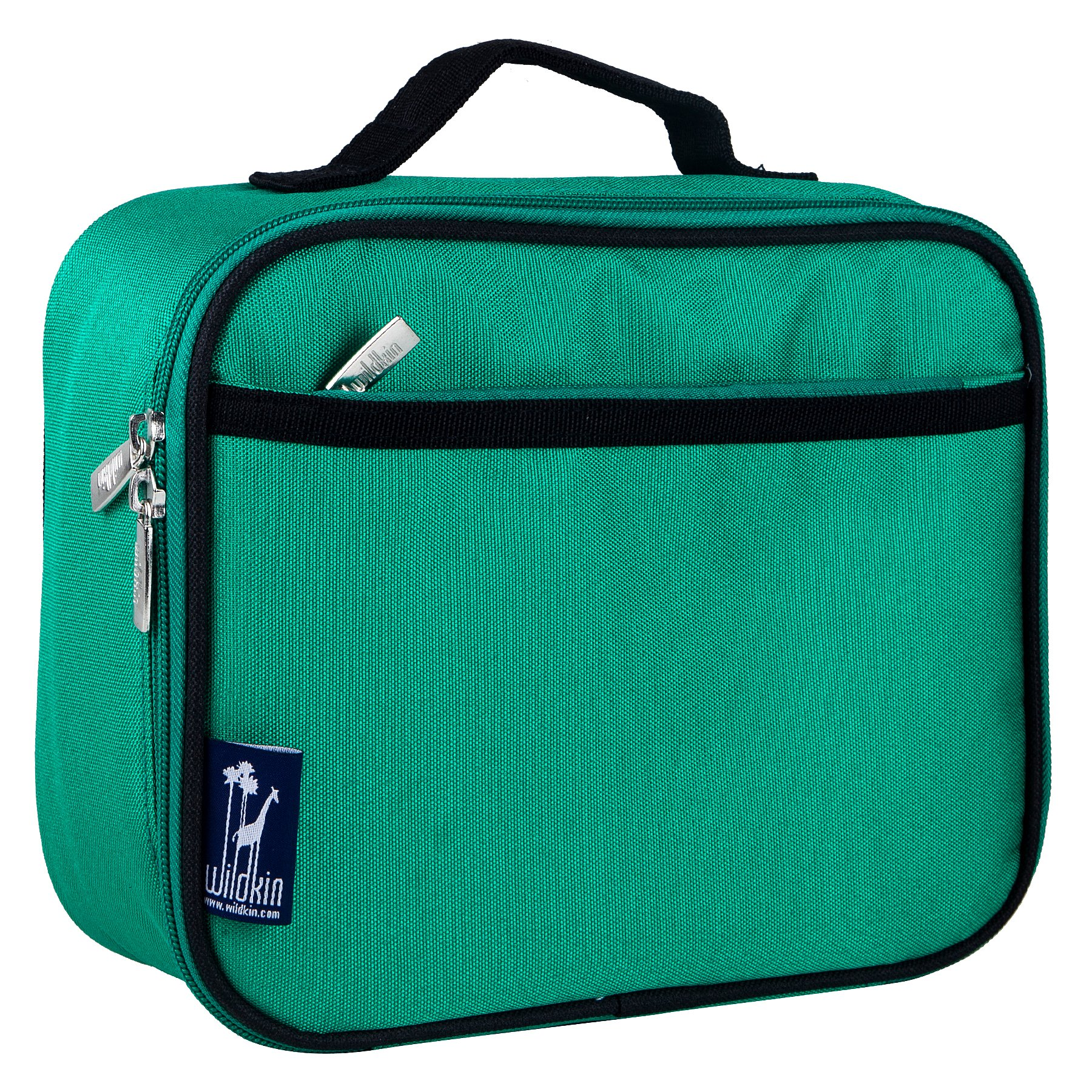 Wildkin Kids Insulated Lunch Box Bag for Men and Women, Ideal Size for Packing Hot or Cold Snacks for Work &Travel, Measures 9.75 x 7 x 3.25 Inches, Mom's Choice Award Winner, BPA-free(Emerald Green)