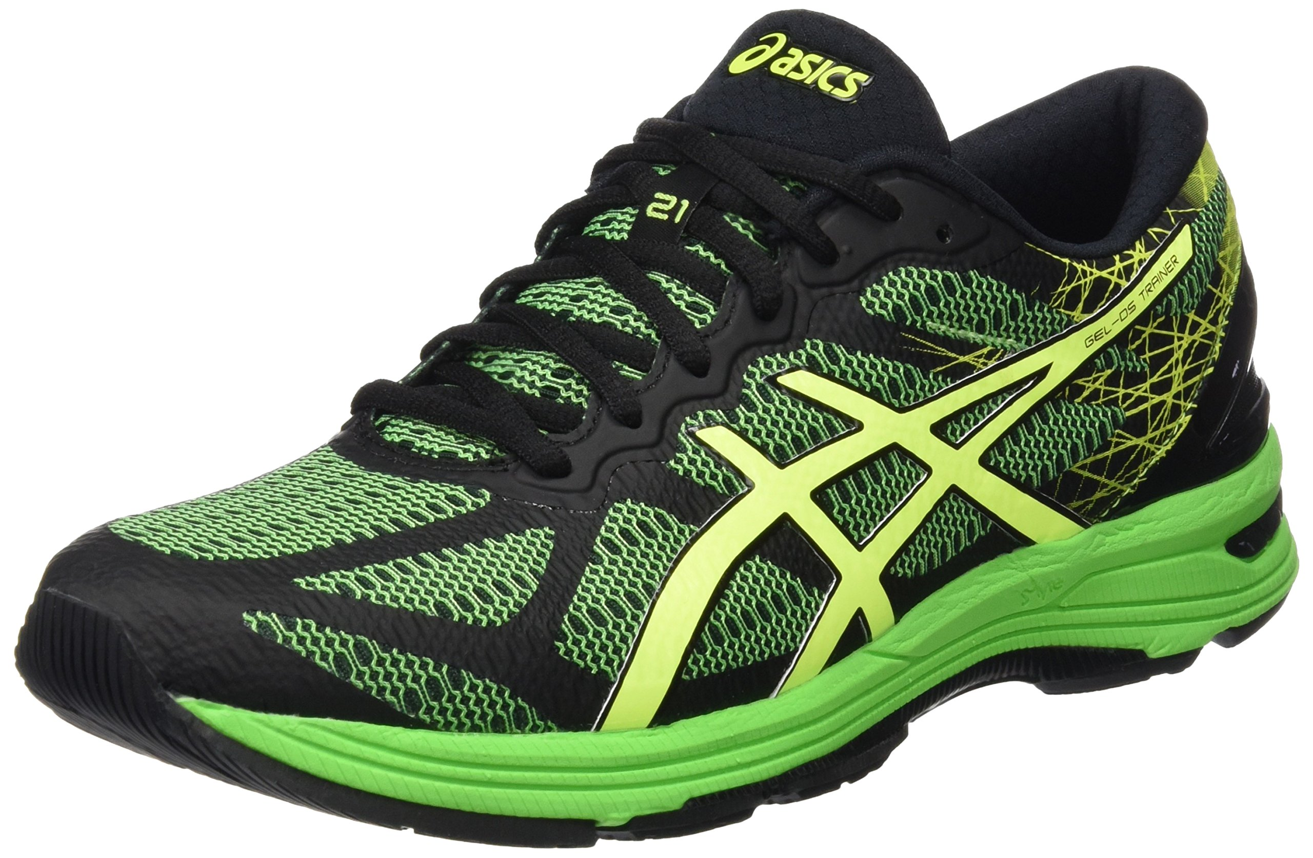 asics mens gel ds trainer 21 running shoes green 5 5 uk. Black Bedroom Furniture Sets. Home Design Ideas