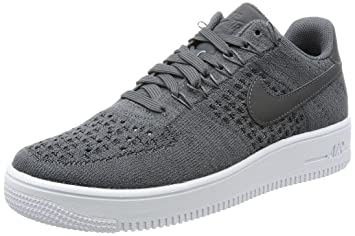 NIKE Chaussures Homme Air Force 1 Flyknit Low, dark grey/dark grey-white