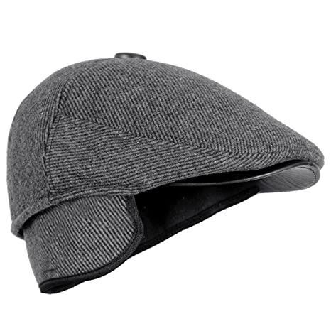 4e1402802 FabSeasons Self Designed Unisex Golf Flat Cap with Foldable Ear Cover for  Winters