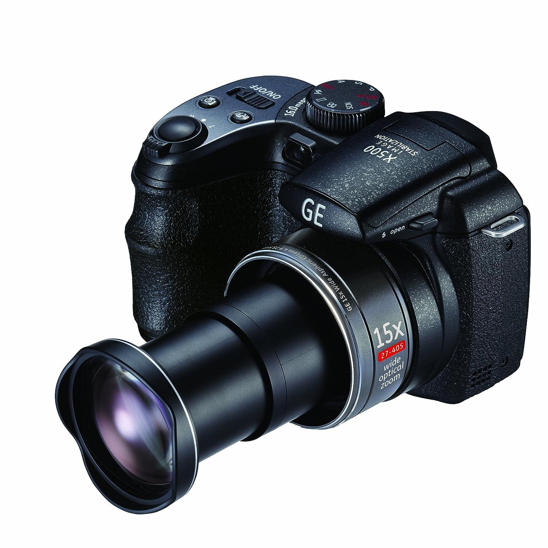amazon com ge power pro x500 bk 16 mp with 15 x optical zoom rh amazon com GE X400 Camera On Tripod GE X400 Camera Specs