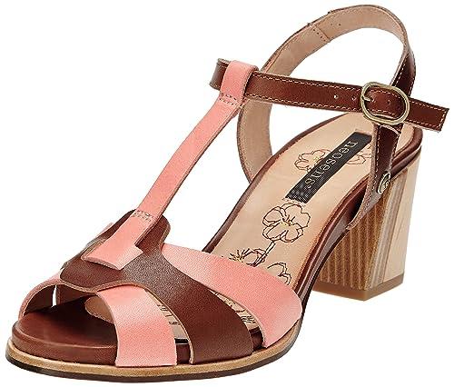 Malbec 494 - Zapatos de vestir de cuero para mujer multicolor Multicolore (Castor Pêche) 38 Neosens MQXSHfj0B