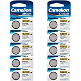 CAMELION Lot de 2 Packs Lot de 5 piles Lithium 3V CR2032