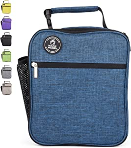 Insulated Lunch Box for Adults and Kids - Professional Work Lunch Bag for Men and Women - Spacious and Heavy Duty School Lunchbox for Boys and Girls (Dark Blue)