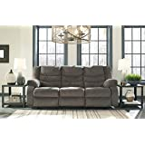 Tulen Contemporary Gray Color Chenille Fabric Reclining Sofa