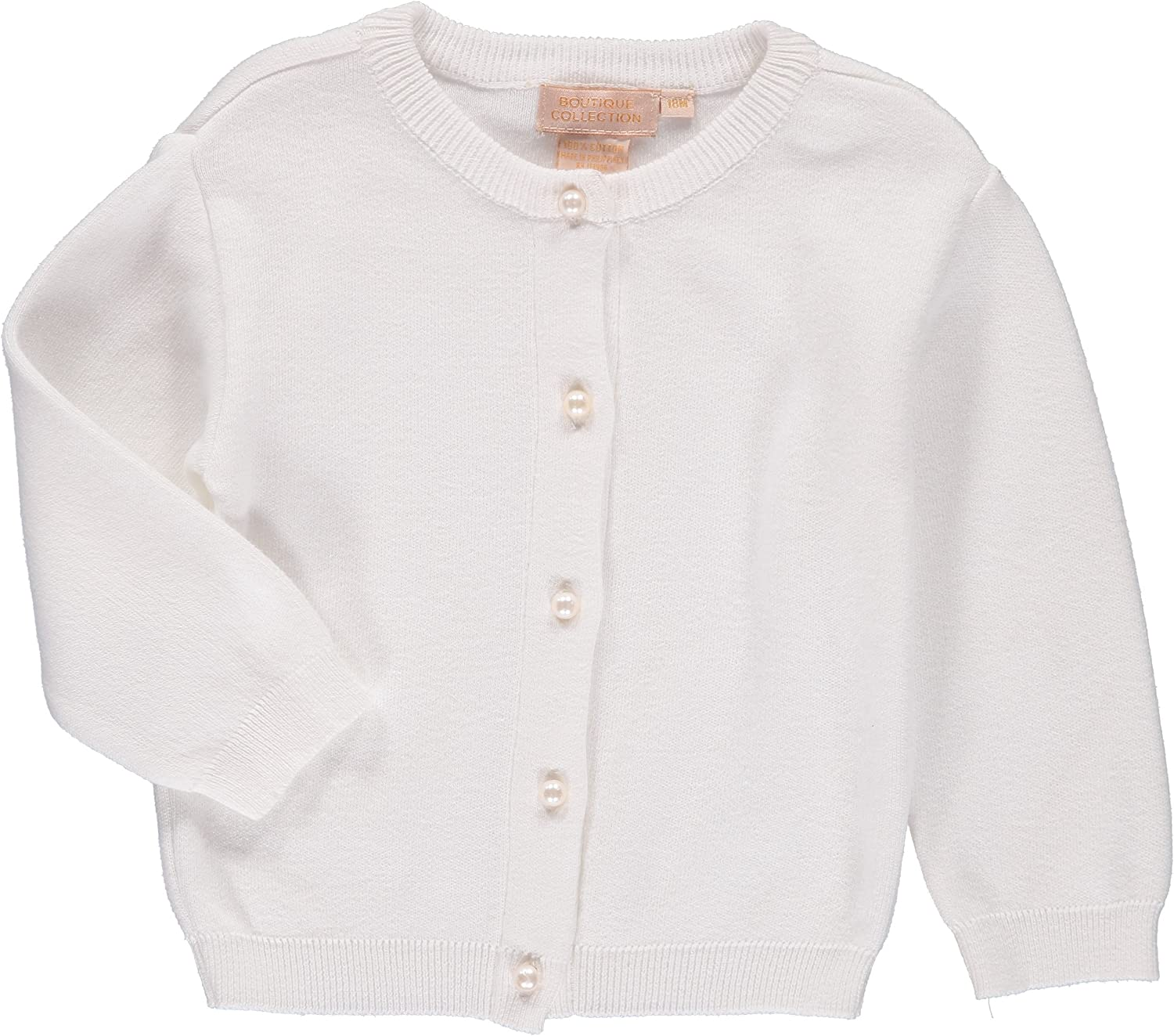 Boutique Collection Baby Girl Soft Knit Cardigan White Spring Sweater