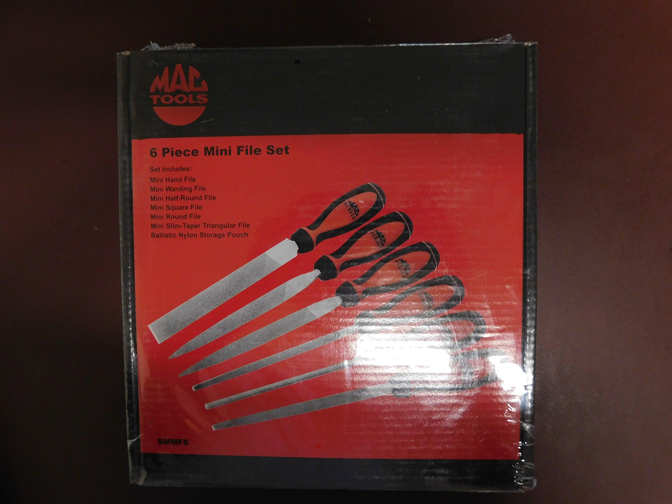 Mac Tools 6 Piece Mini File Set, Part #SMMF6