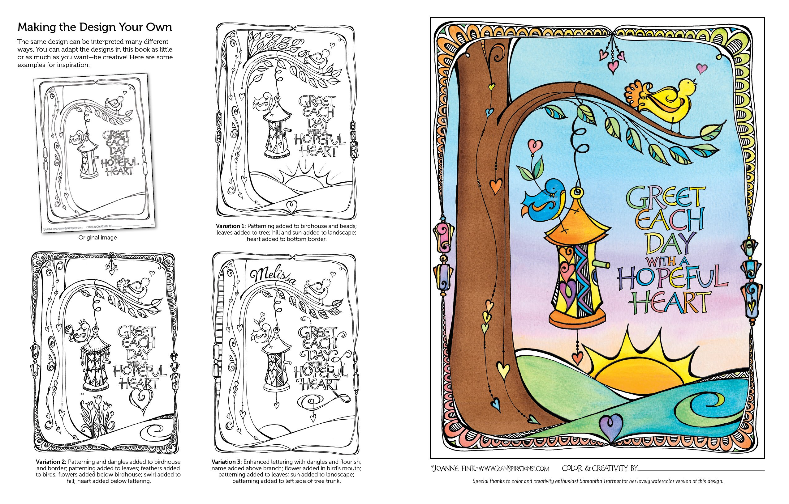 Zenspirations Coloring Book Expressions Of Faith Create Color Pattern Play Joanne Fink 0499995279933 Amazon Books