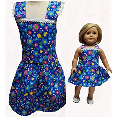Doll Clothes Superstore Size 8 Matching Girl and Doll Flower and Butterfly Dresses: Toys & Games