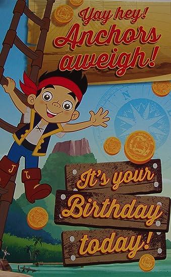 Amazon.com: Disney Jake y los piratas de Nunca tarjeta de ...