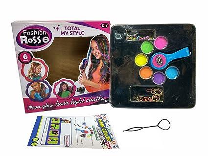 Amazon.com: Lightahead DIY Temporary Neon Hair Color Chalk Sets for ...