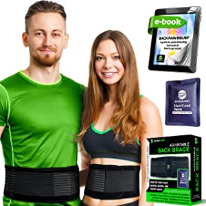Lower Back Brace for Men and Women - Lumbar Support Back Braces for Lower Back Pain, Office Chair or Car – Unisex Back Belt for Lifting, Sports or Therapy (XXL)