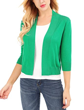 e16a1b22ec9 Uniboutique Womens Teal Cardigan Short Jackets for Women Long Sleeve for  Dress