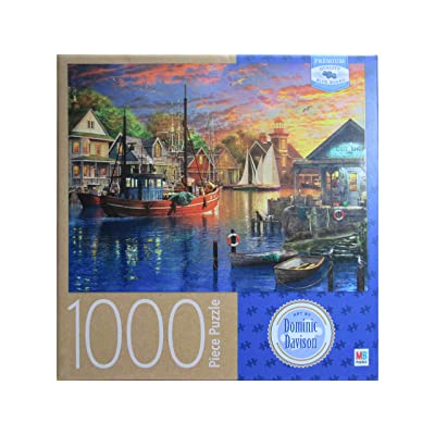 American Harbour Sunset, by Dominic Davison 1000 Piece Puzzle: Toys & Games