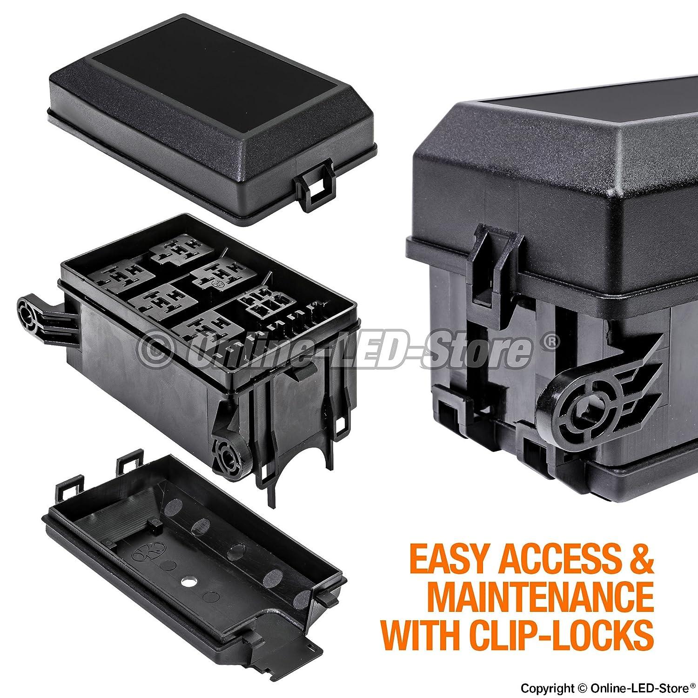 amazon com: online led store 12-slot relay box [6 relays]