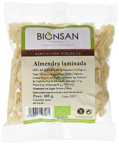 Bionsan Almendra Laminada - 2 Paquetes de 100 gr - Total: 200 gr