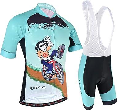 BXIO Maillot Ciclismo Hombre, Ropa Ciclismo y Culotte Ciclismo con ...