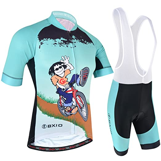 BXIO Cycling Clothing Mens Pro Team Bike Jerseys and Bib Shorts with Gel  Pad Breathable Material 93ef7d93c