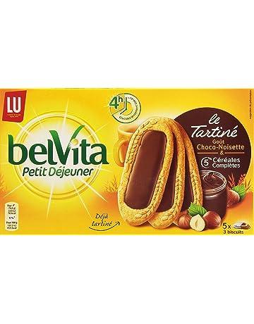 Lu Belvita Petit Déjeuner Le Tartiné Goût Chocolat Noisettes 5 Sachets de 3  Biscuits 250 g 048da322b75