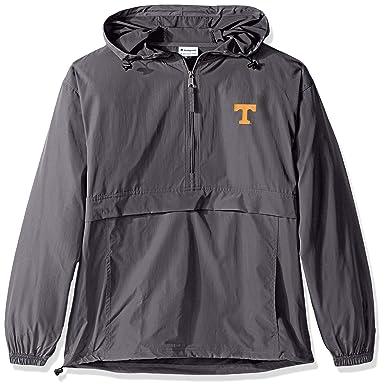14803c84c Amazon.com : Champion NCAA Men's Half Zip Pack & Go Water Resistant Front  Pocket Packable Jacket : Clothing