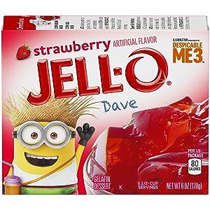 Jell-O Strawberry Gelatin Mix (6 oz Box)