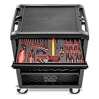 FACOM ROLL.6M3PGCM100 Servante d'atelier équipée - 6 tiroirs - Module outillé de 45 outils inclus - Edition Limitée 100 ans
