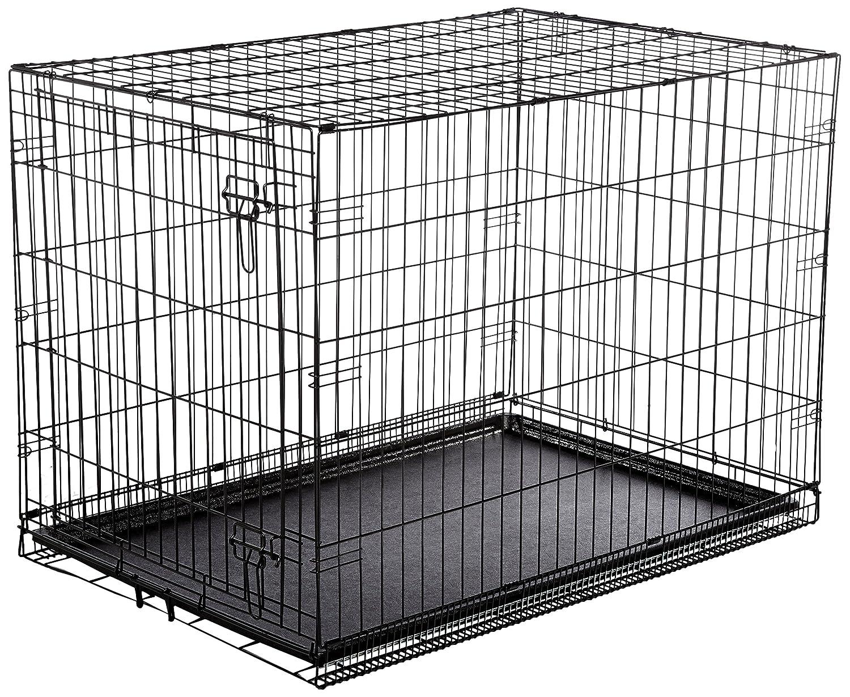 Amazon.com : AmazonBasics Single-Door Folding Metal Dog Crate ...
