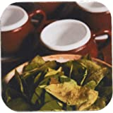 3dRose cst_86965_1 Peru, Cuzco Coca Leaves and Tea Cups SA17 BJA0152 Jaynes Gallery Soft Coasters, Set of 4