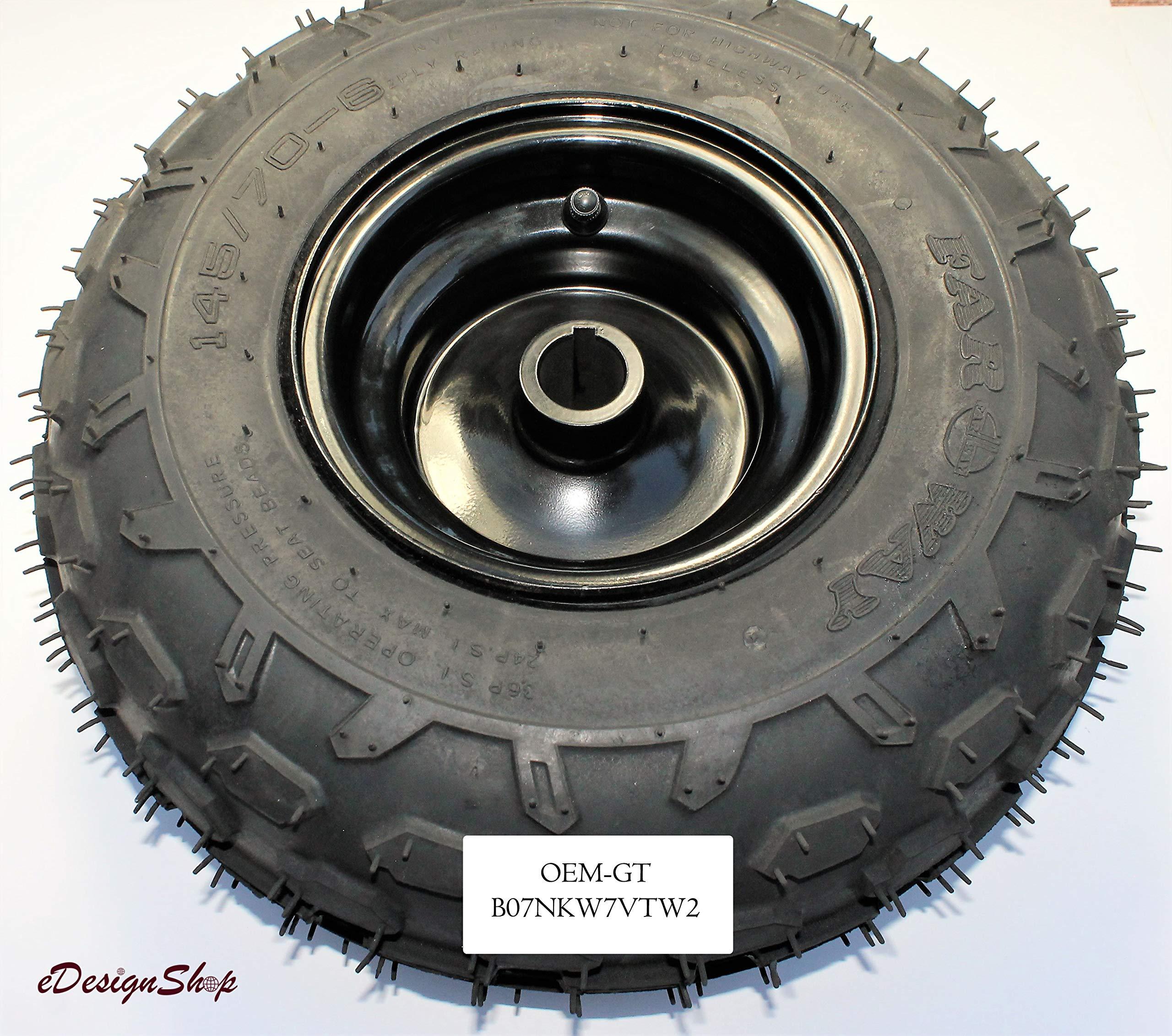 Go-Kart ATV Tire Wheel Assembly 145/70-6 Rim Knobby Go Kart Mini Bike. 2 PACK by OEM-GT