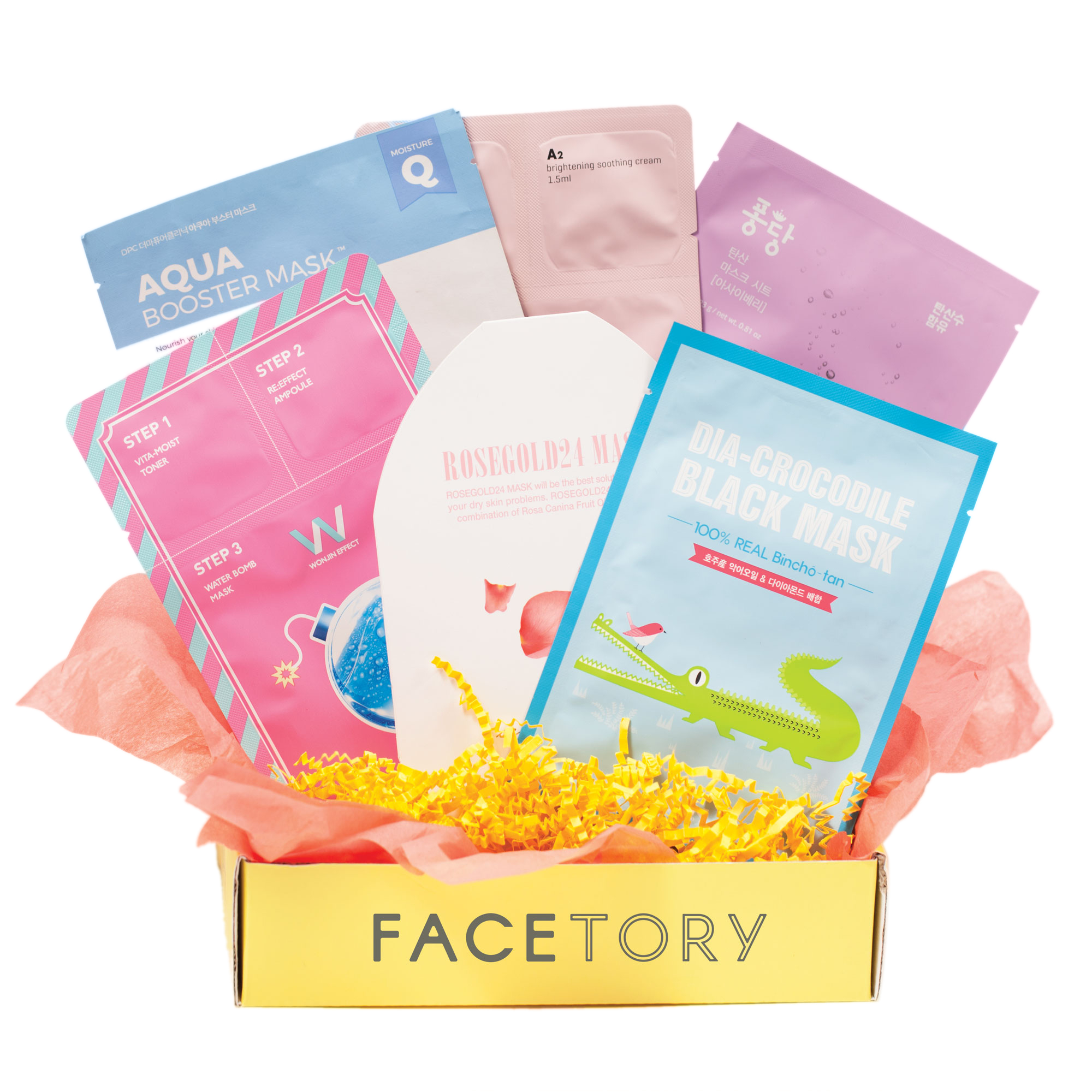 FaceTory - Handpicked Korean Sheet Masks Subscription Box: 4-Ever Fresh (Best Men's Subscription Boxes 2019)