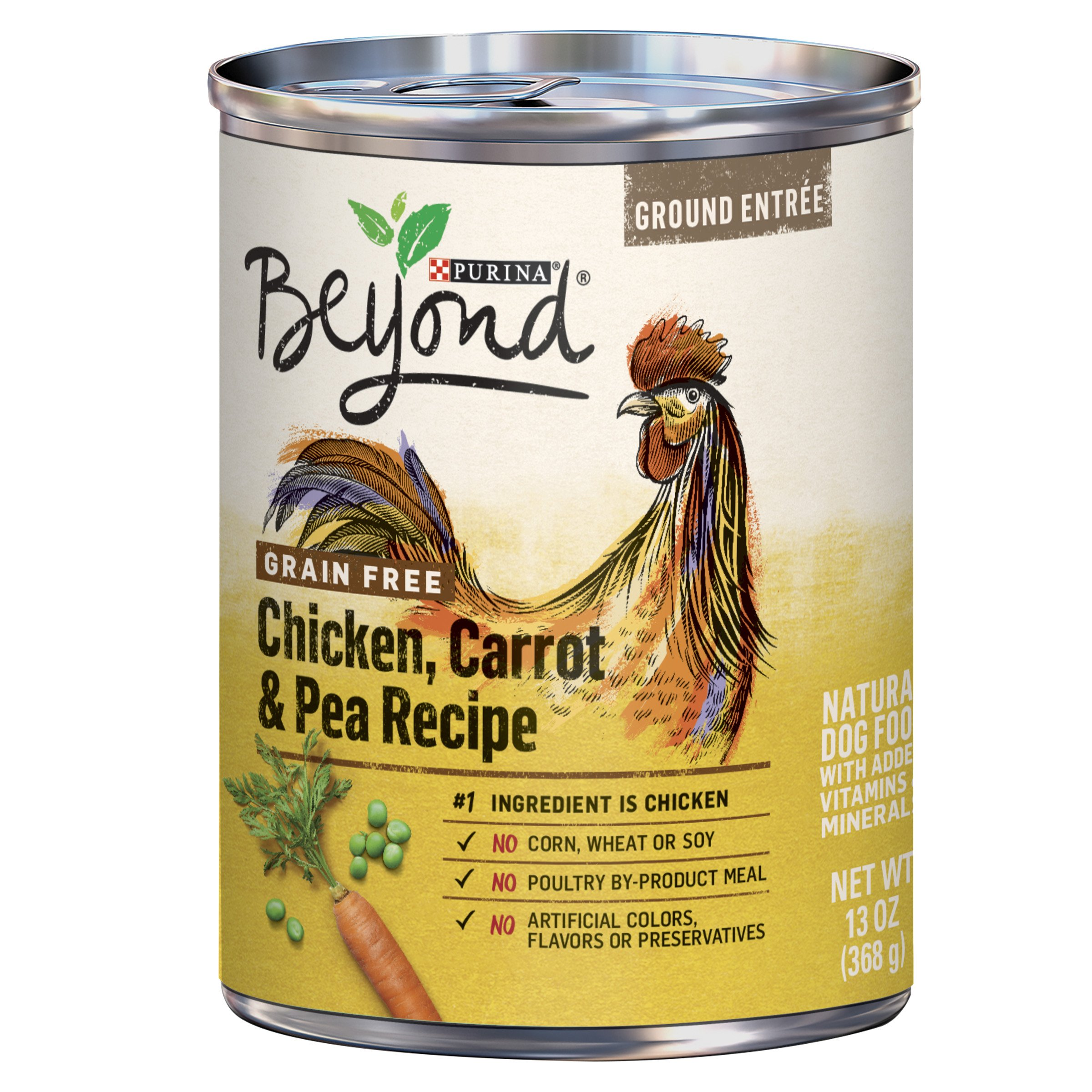 Purina Beyond Grain Free, Natural Pate Wet Dog Food, Grain Free Chicken, Carrot & Pea Recipe - (12) 13 oz. Cans by Purina Beyond