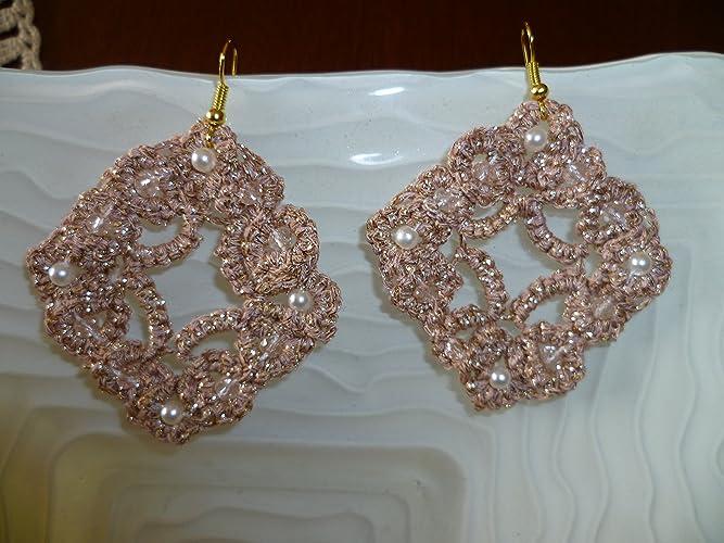completo nelle specifiche acquisto genuino vendite all'ingrosso Orecchini chiacchierino colore rosa e oro con Swarovski rosa ...