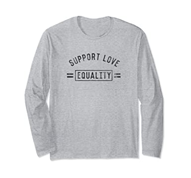 5f040c9bdc Unisex Well Worn Equality Pride Long Sleeve T-Shirt Small Heather Grey