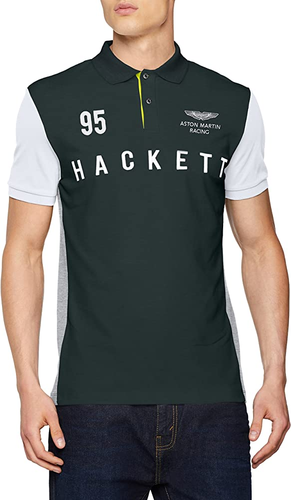 HKT by Hackett AMR HKT Multi Polo, Multicolor (Green/Grey 6AB), L ...