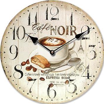 orologio da parete design cafe noir espresso orologio per cucina o salotto nuovo