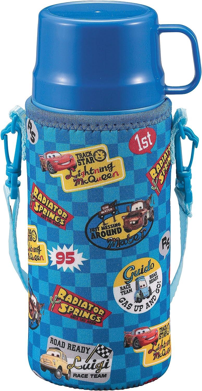 inoxidable botella botella de agua Parukinzoku Disney recta potable taza para beber cálido-frío niños 2VÍAS cubierta 600 ml botella aislamiento botella de vacío de acero doble con Coches / insignia