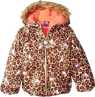 540e9f458 Amazon.com: Hello Kitty Girls' Puffer Jacket with Sherpa Trim Hood ...