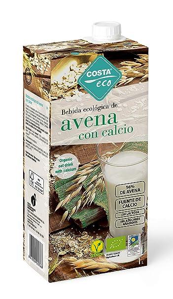 COSTA ECO Bebida Ecológica de Avena con Calcio - Paquete de 6 x 1000ml - Total