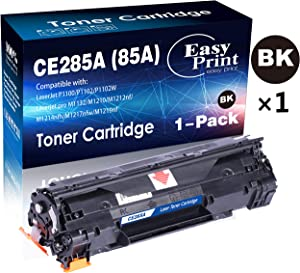 (1x Black) Compatible 85A CE285A Toner Cartridge 85A Used for HP P1100 P1102W Pro M1132 M1210 M1212nf M1214nfh M1217nfw M1219nf, by EasyPrint