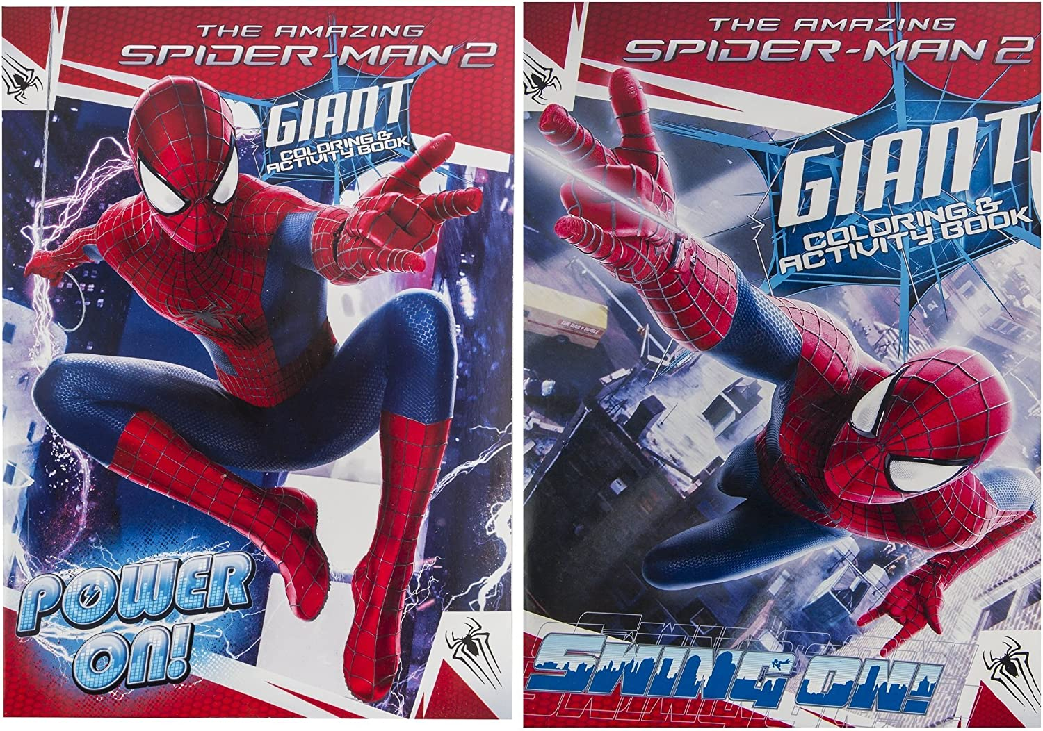 Marvel (2 Pack) The Amazing Spiderman 2 Giant Coloring & Activity ...