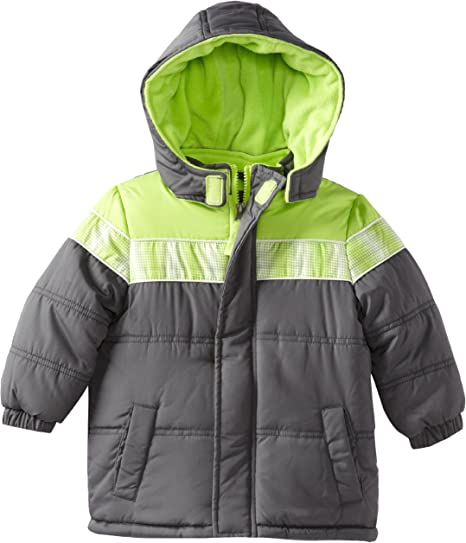 iXtreme Toddler Boys/' Space Dye Print Snow Puffer Jacket BLACK