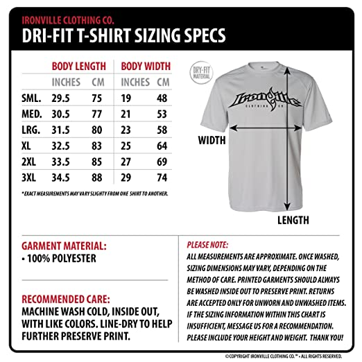 3e66e5eea Ironville Put Your Damn Weights Back Dri-Fit Bodybuilding Shirt   Amazon.com