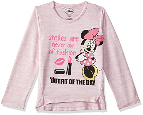 0304c440 Mickey & Friends Kids Girls Candy Pink Color Full Sleeve T-Shirt:  Amazon.in: Clothing & Accessories
