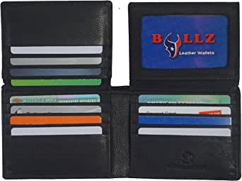Bullz RFID Signal Blocking Theft Protection Leather Large Thick Security Mens Wallet