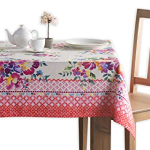Maison d' Hermine Rose Garden 100% Cotton Tablecloth 60 Inch by 90 Inch