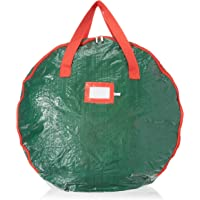 "Christmas Wreath Storage Bag 30""-Tear Resistant Zippered Bag with Reinforced Handles (Green)"