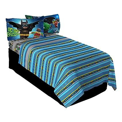 818ddda6de Amazon.com  LEGO Batman Way Brozay Twin Sheet Set  Home   Kitchen