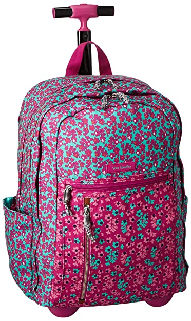 Amazon.com  Vera Bradley Women s Lighten Up Printed Rolling Backpack ... d22f0ea87c