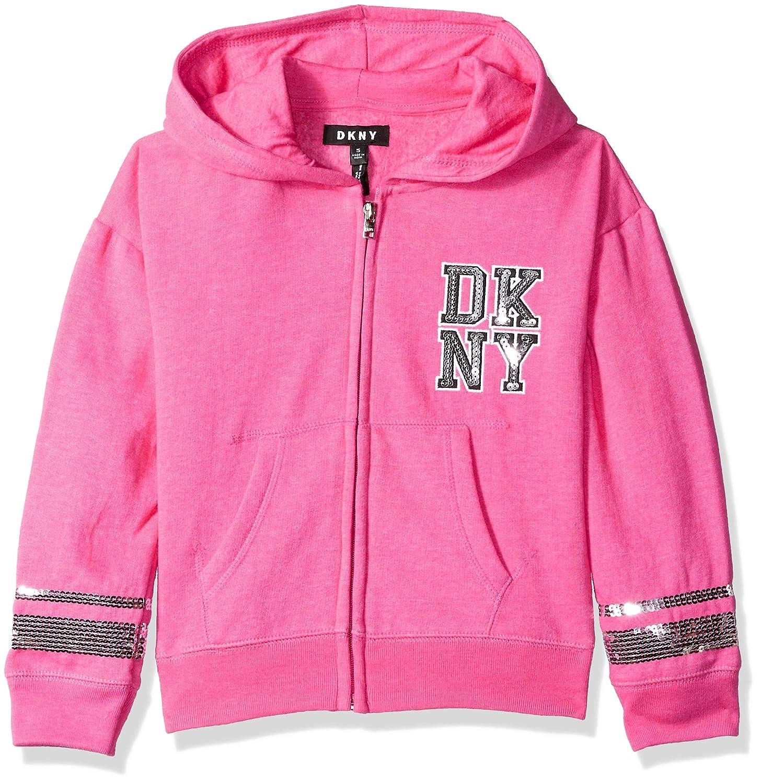 DKNY Girls' Varsity Sequin Fleece Hoodie, DG_1842