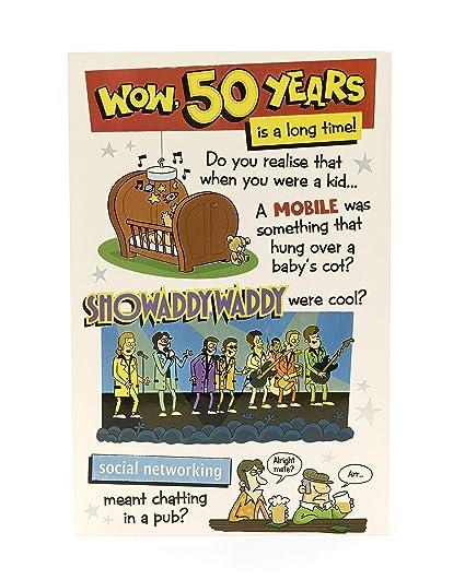 Divertida tarjeta de 50 cumpleaños - 50 años es un largo ...